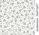 Retro memphis geometric line shapes seamless patterns. Hipster fashion 80-90s. Abstract jumble textures. Black and white. Triangle. Memphis style for printing, website, fabric, poster, cards