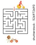 funny maze game for preschool... | Shutterstock . vector #526972693
