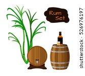 Rum Set. Sugar Cane  Helm ...