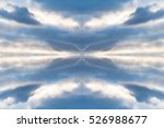 abstract blue cloudy sky... | Shutterstock . vector #526988677