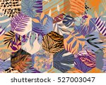 seamless pattern with tropical... | Shutterstock .eps vector #527003047