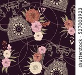 seamless pattern with vintage... | Shutterstock .eps vector #527003923