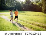 healthy fit  sportive couple... | Shutterstock . vector #527012413