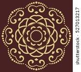 oriental vector golden round... | Shutterstock .eps vector #527013217