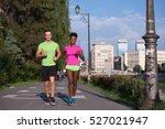 healthy young multiethnic... | Shutterstock . vector #527021947