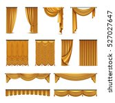 golden silk velvet luxury... | Shutterstock .eps vector #527027647