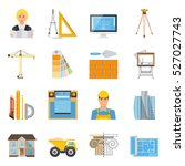 architect flat colored icons...   Shutterstock .eps vector #527027743