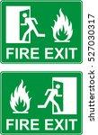 emergency fire exit door | Shutterstock .eps vector #527030317