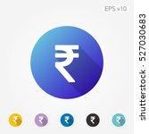 colored icon of rupee symbol... | Shutterstock .eps vector #527030683