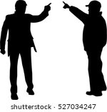 business people. silhouettes... | Shutterstock .eps vector #527034247
