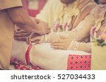 the traditional thai wedding... | Shutterstock . vector #527034433