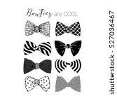 bow tie collection | Shutterstock .eps vector #527036467