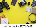 flat lay of accessories on... | Shutterstock . vector #527036497