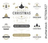 christmas labels and badges... | Shutterstock .eps vector #527036527