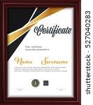 certificate template letter... | Shutterstock .eps vector #527040283