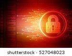 security concept  lock on... | Shutterstock . vector #527048023