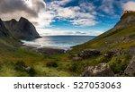 kvalvika beach on the lofoten... | Shutterstock . vector #527053063