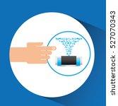 hand gadget player multimedia...   Shutterstock .eps vector #527070343