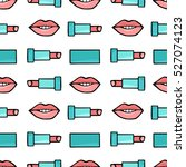 lips and lipstick natural color.... | Shutterstock .eps vector #527074123