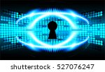 safety concept  closed padlock... | Shutterstock .eps vector #527076247