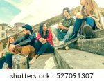 group of college friends... | Shutterstock . vector #527091307