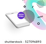 mobile phone icon with trendy... | Shutterstock .eps vector #527096893