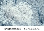 snow on a tree branches. winter ... | Shutterstock . vector #527113273