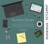 website banner of a business... | Shutterstock .eps vector #527114947