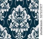 vector damask seamless pattern... | Shutterstock .eps vector #527117377