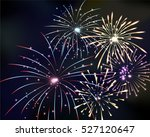 fireworks on twilight... | Shutterstock .eps vector #527120647