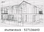 abstract 3d render of building... | Shutterstock .eps vector #527136643