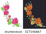 rose patches set  flower... | Shutterstock .eps vector #527146867