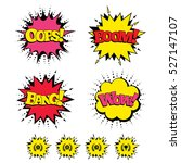 comic boom  wow  oops sound... | Shutterstock .eps vector #527147107