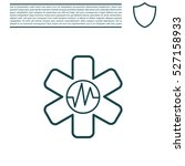 medical  ambulance  line icon | Shutterstock .eps vector #527158933