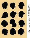 female profiles | Shutterstock .eps vector #5271679