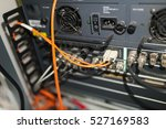 fiber optic with servers in a... | Shutterstock . vector #527169583
