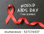 red ribbon. aids awareness.... | Shutterstock . vector #527176537