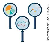set icons business analysis...   Shutterstock .eps vector #527180233