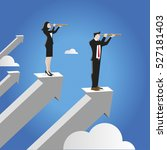 businessman and businesswoman... | Shutterstock .eps vector #527181403