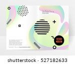 geometric background template... | Shutterstock .eps vector #527182633
