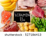 foods with vitamin b6... | Shutterstock . vector #527186413