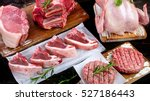 different types of raw meat... | Shutterstock . vector #527186443