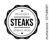 steaks vintage stamp logo | Shutterstock .eps vector #527188087
