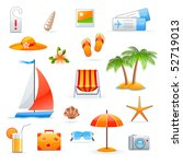 summer and travel icon set | Shutterstock .eps vector #52719013