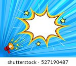 comic book background with... | Shutterstock .eps vector #527190487