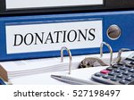 donations binder in the office... | Shutterstock . vector #527198497