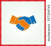 handshake icon vector... | Shutterstock .eps vector #527204743