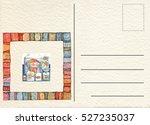 hand drawn back postcard  | Shutterstock . vector #527235037