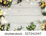 christmas background on the... | Shutterstock . vector #527241547