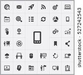 mobile phone icon. digital